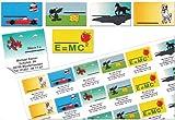 Kinder-Schul-Etiketten mit Ihrer kompletten Adresse