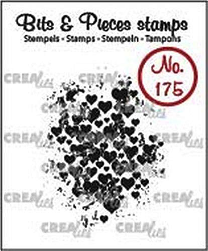 Crealies Clearstamp Bits & Pieces Grunge Herzen 32 x 43mm