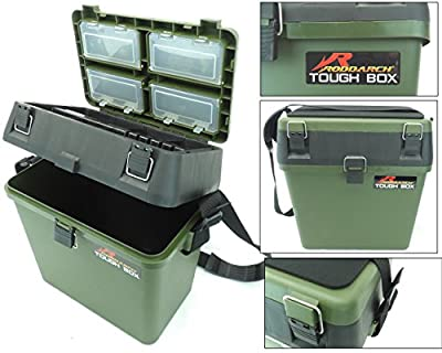Fishing Tackle Seat Box Includes Padded Strap & Seat Pad Very Strong Freepost from Silver Bullet Trading