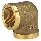 GARDENA Messing-Winkel mit Innengewinde: Winkelstück mit 26.5 mm (G 3/4