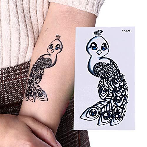 ht temporäre Tätowierung Aufkleber Arm Peacock Old School Tatto Aufkleber Flash Tatoo Fake Tattoos für Frauen ()