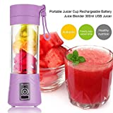 #10: Petrice Panzl Portable Usb Juicer Blender 380ml Bottle With Rechargeable Power Bank & Usb Cable