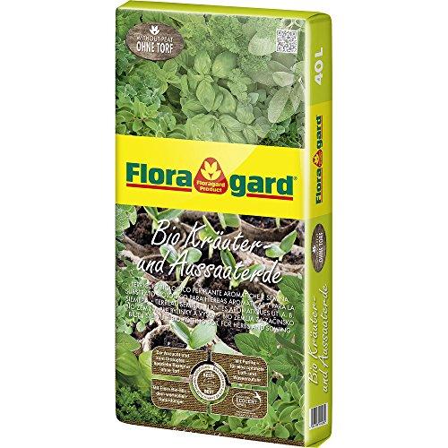 Floragard Bio Kräuter- und Aussaaterde ohne Torf 1x40l