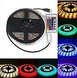 Luces de tira LED con control remoto para 48 a 50 pulgadas HDTV PC Monitor TV Retroiluminación LED USB 16 colores y 4 tiras de iluminación RGB a prueba de agua dinámicas [Clase de energía A +]