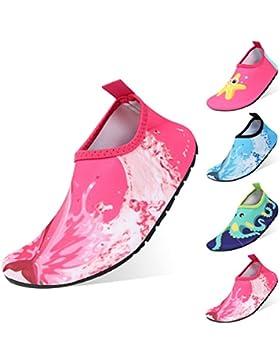 [Patrocinado]Zapatos de Agua Niño QIMAOO Zapatos de Agua de Natación Niños Zapatos de Playa para Niños Descalzo Barefoot Agua...