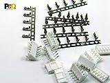POPESQ® - 5 Stk. x Buchse mit Stecker mit Krimpkontakten 2mm 5 polig Abgewinkelt KB20/5 pcs. x Socket with Plug with Crimpcontacts 2mm 5 way Right angle KB20#A2130