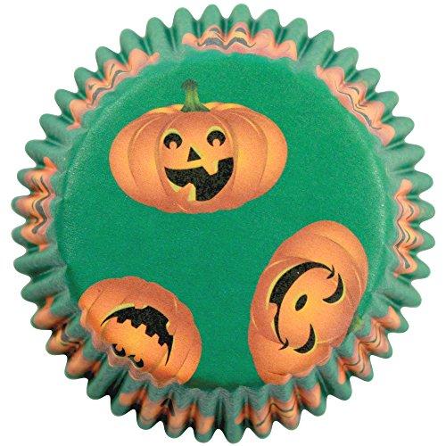 PME Backförmchen für Cupcakes aus Papier mit Halloween-Motiv, Standardgröße, 60er Pack, Kunststoff, Mehrfarbig 7 x 7 x 2.8 cm, 60-Einheiten
