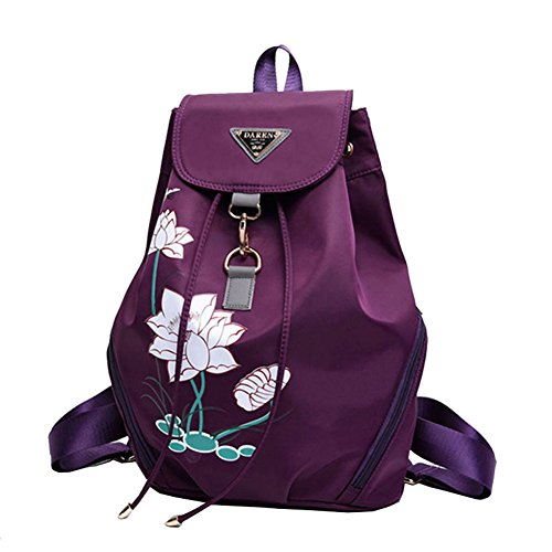 Ankena , Damen Rucksackhandtasche violett