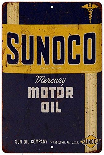 sunoco-mercury-motor-oil-vintage-look-reproduction-8x12-metal-sign-8120834-by-great-american-memorie