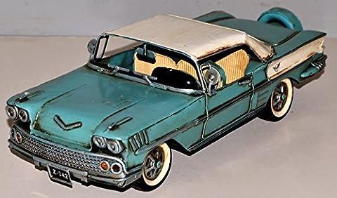 Chevy Impala Auto Vintage bleu clair Tôle Voiture en tôle
