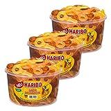 Haribo Süße Schnuller, 3er Set, Fruchtgummi mit Cola-Geschmack, Gummibonbon, Frucht Gummi, Gummibärchen, Runddose