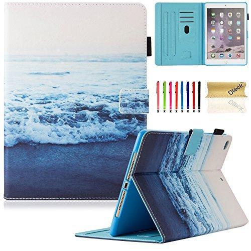 Neue iPad 201724,6cm Case/iPad Air Case/iPad Air 2, dteck PU Leder Folio Smart Cover mit Auto Sleep Wake Ständer Wallet Case für neue iPad 24,6cm 2017, iPad Air 12 Neue Wallet Case