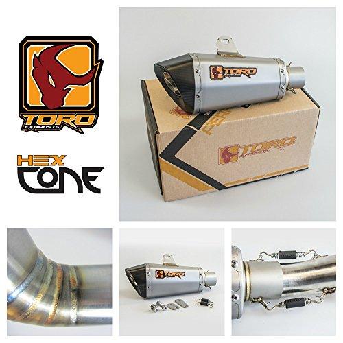 Toro T1 Hex Kit di scarico a cono in acciaio / carbonio per moto - Honda CBR 600 F4I 2001-2006