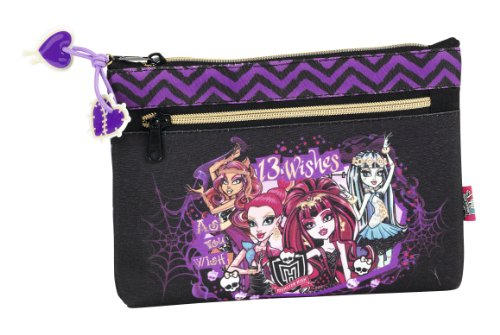 Monster High – Portatodo con 2 cremalleras (Safta 811366033)