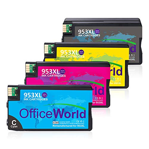 OfficeWorld 953XL patronen Für Remanufactured HP 953XL 953 XL Druckerpatronen, Kompatibel mit HP OfficeJet Pro 8710 7740 8720 8715 8218 8725 8718 8730 8740 8728 7720 7730 8210 Drucker -