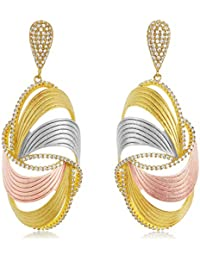Shaze Gold Brass Malta Earrings for Women