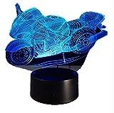 Motorrad 3D Tischlampe Led Dekorative Lampara Plexiglas Platte Lumineuse Nachttischlampe Colores Bulbing Lampe Für Motor Fan