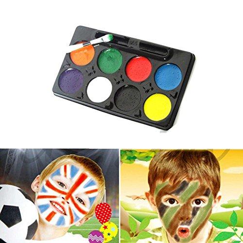GSYClbf Professionelle Gesicht & Körper Ölgemälde Pigment DIY Bilden COSPLAY Clown Malerei Palette Gesicht Körperbemalung 8 Farben Halloween