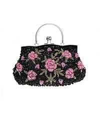 Flada dames et femmes Vintage sequins sac à main perles soirée embrayages bal de noces ybckijW8