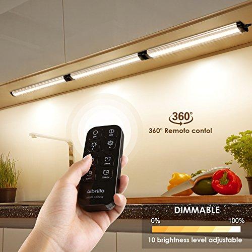 Albrillo 3er Pack 12W LED Unterbauleuchten - 900LM Dimmbar Küchenlampe mit Timer Funktion, inkl....