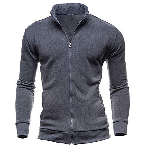 Elecenty maglie a manica lunga da uomo felpa sportiva con cappuccio e cerniera autunno inverno per uomo top outwear