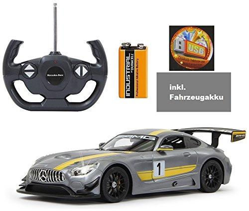 9v Led-lichter Rc (BUSDUGA - RC Mercedes-Benz AMG GT3 ferngesteuert - wählbar.: Farbe , Maßstab und Funktion - RTR ready-to-run - inkl. 9V Batterie und AKKU - (GT3 1:14 inkl. Akku))