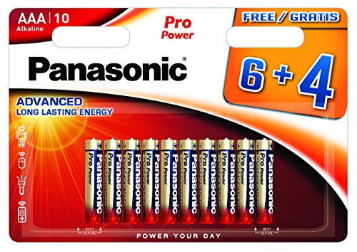 Blister 10 Batterie Mini Stilo AAA Alcaline LR03 Pro Power Panasonic Mini-phone