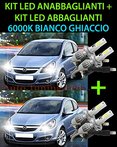 MOTOS Kit LED LAMPADE ABBAGLIANTI ANABBAGLIANTI per Opel Corsa D 2006-2010 -.