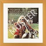 LP Vinyl Cover Rahmen zum Aufhängen in gold mit Passepartout in weiß - Wechselrahmen aus Glas und Holz für Schallplatten Album Plattencover - quadratisch