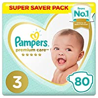 Pampers Premium Care Diapers, Size 3, Midi, 6-10 kg, Super Saver Pack, 80 Count