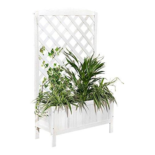 Melko Rankgitter Rankkasten Blumenständer Rankhilfe aus Vollholz, 72 x 30 x 120 cm, aus Holz, inkl....
