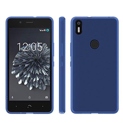 TBOC® Blau Gel TPU Hülle für BQ Aquaris X5 Plus (5.0 Zoll) Ultradünn Flexibel Silikonhülle (Nitch kompatibel mit bq Aquaris X5 5.0 Zoll)