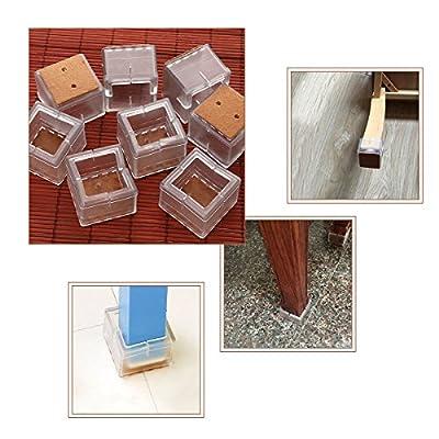 NUOLUX 32pcs Silikon Stuhl Kappen Füße Pads Möbel Tisch deckt Boden Beinschützer für 25-29MM Runde Beine (Transparent + braun) von NUOLUX bei Gartenmöbel von Du und Dein Garten