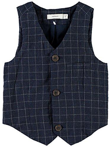 Name it mini Anzug-Weste für Jungen Nitfittin kariert, Größe:110, Farbe:dress blues