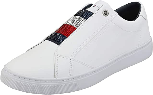 Tommy Hilfiger FW0FW04513 Crystal Sneakers Donna White 39