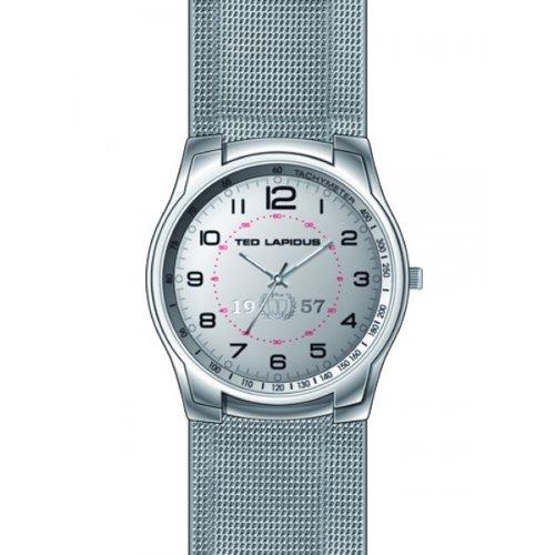Ted Lapidus 5124704 - Reloj analógico de cuarzo para hombre, correa de otros materiales color gris