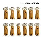 Yigo-Flaschen-Lichter, Kork-Form-LED-Leuchten, für Wein-Flasche, Glas-Dekoration, Lichter mit Schraubendreher für Party, Warm-Weiß, 12 Stück