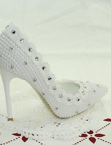WSS 2016 Chaussures de mariage-Blanc-Mariage / Habillé / Soirée & Evénement-Talons-Talons-Homme 4in-4 3/4in-white