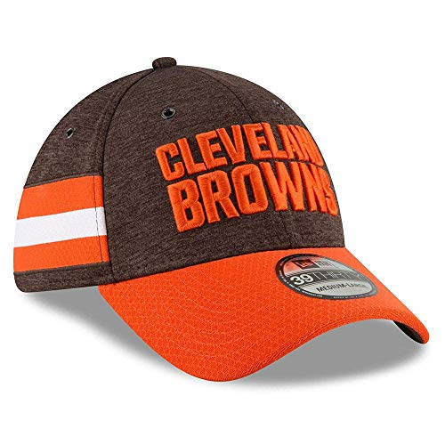 New Era NFL Cleveland Browns Authentic 2018 Sideline 39THIRTY Stretch Fit Home Cap, Größe :S/M