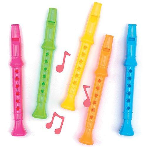 Coloridas flautas musicales de 14 cm