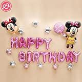 #8: Arvel® Happy Birthday Alphabet Letter Foil Balloons- Micky Mouse All Included