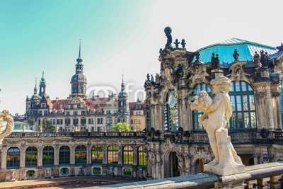 "Alu-Dibond-Bild 120 x 80 cm: ""Zwinger Dresden Glockenspiel"", Bild auf Alu-Dibond"