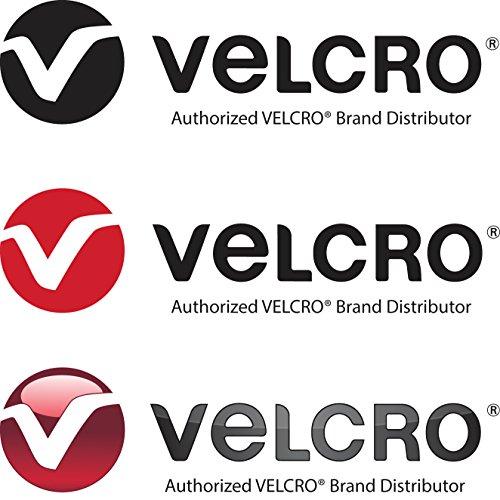 VELCRO Brand Klett EIN WICKEL rücken-an-rücken Umreifungsbänder in Rot 2CM Breit - Rot, 1 Metre
