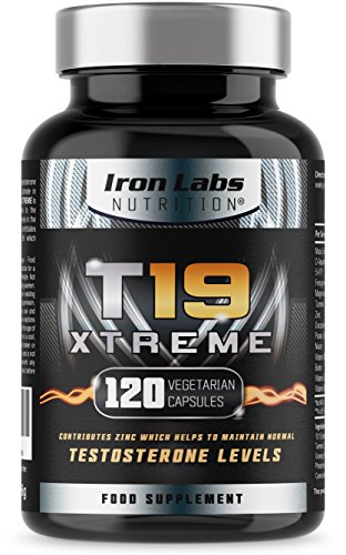 T19 Xtreme | Max Strength Testosterone Support Supplement | 2,000mg D-Aspartic Acid | Zinc booster & Vitamin D level booster | 120 Vegetarian Capsules - 30 Day Supply