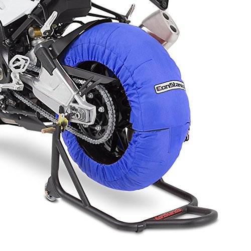 Motorrad Reifenwärmer ConStands Blau Superbike 60-80 °C Set (Reifenwärmer Motorrad)