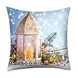 Xmiral Kissenbezüge Weihnachten Bedruckt Polyester Sofa Auto Kopfkissenbezug Zierkissenbezüge(F)