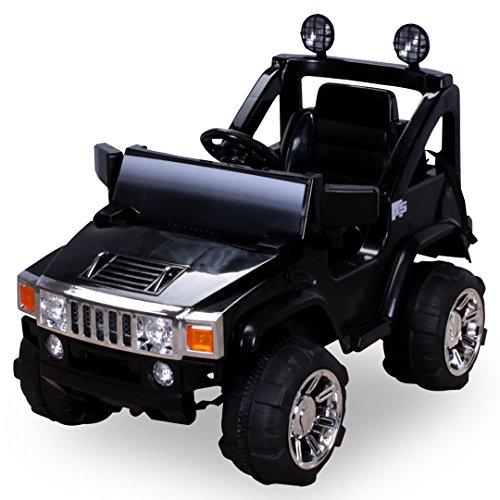 *Elektro Kinderauto Hummer Jeep A30 mit 2 x 35 Watt Motor Elektro Kinderauto Kinderfahrzeug in mehreren Farben (schwarz)*