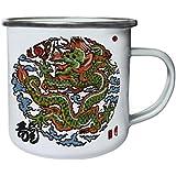 Nueva Pintura China Del Dragón Retro, lata, taza del esmalte 10oz/280ml l633e