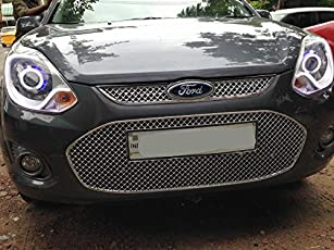 SDR Chrome Plated Front Grill for ford Figo 2012 onwards, Large (Multicolour, WP_FIG_GRILL_02)