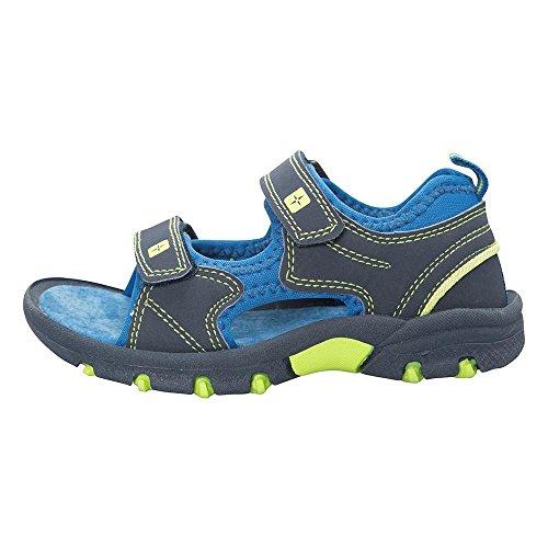 Mountain Warehouse Pebble Junior Sandals - Neoprene Lining Kids Shoes, Phylon, Removable Heel Strap, Velcro Fitting Summer Flip Flops - for Spring Travelling, Walking Blue 1 Child UK